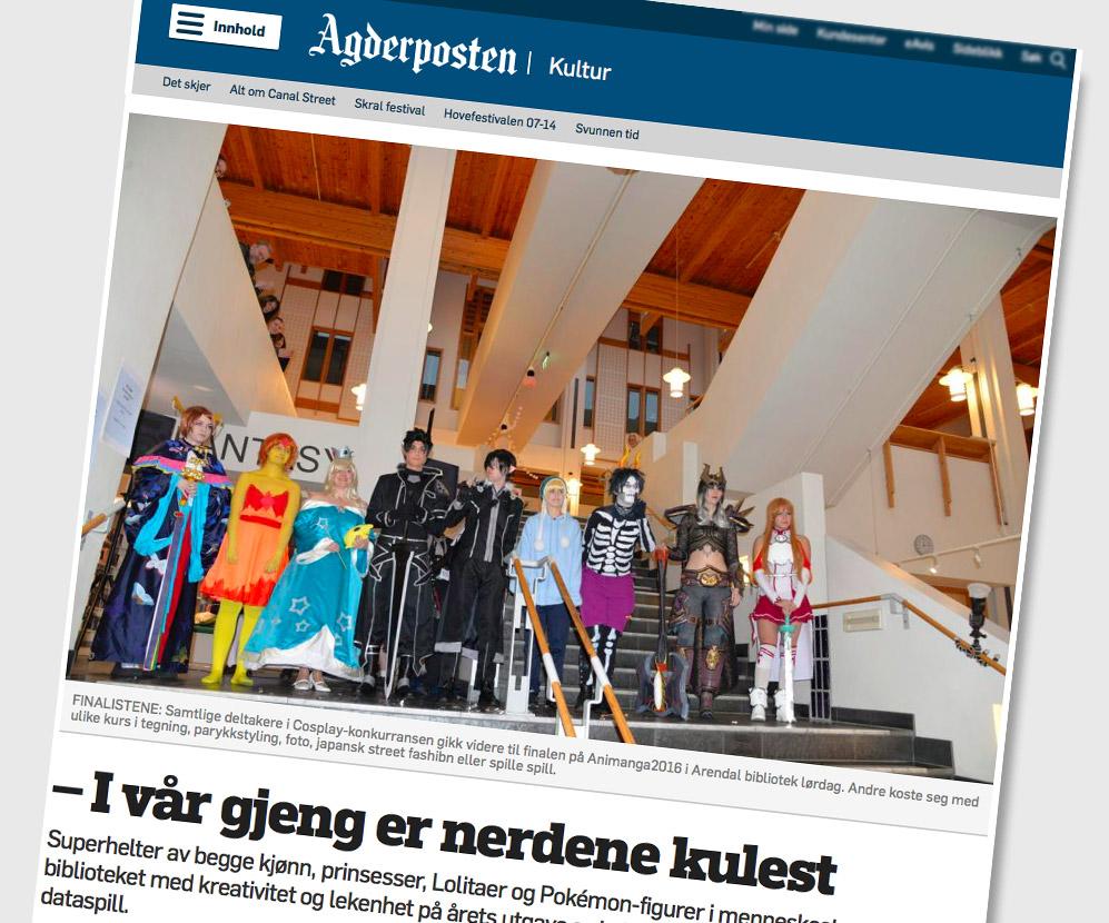 Faksimile Agderposten 2016